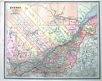 Vintage canada map etsy gumiabroncs Image collections
