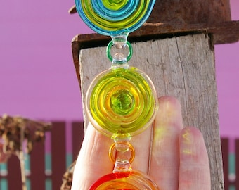 Glass suncatcher - lampwork glass sun catcher