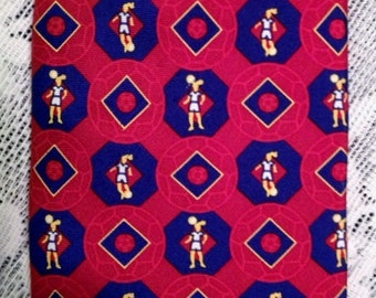 Girls at Play! Necktie by The Female Athlete in red and blue