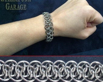 Bracelet - Steel Shenanigans - Stainless Chainmaille