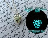 Love Spell Heart Glow Necklace