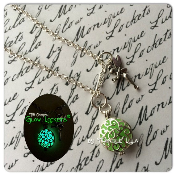Tinkerbell inspired Glowing Fairy Glow Locket ® Necklace
