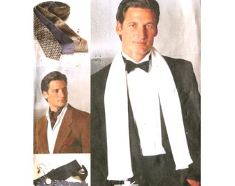 Mens Accessories - Ascot / Cummerbund / Bow Tie / Scarf - Sewing Pattern Vogue 7104 Uncut