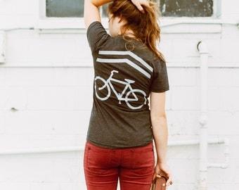Bicycle Shirt, Mountain Bike Shirt, Womens Bike T-Shirt, Cycling Shirt, Commuter Gift, Cyclist TShirt, Gift for Bike Lover, Blackbird Supply