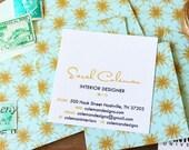 Starburst Mint Calling Cards / Business Cards  - Set (50)