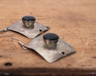 Onyx Earrings • Southwestern Earrings • Metal Earrings • Mexican Earrings • Southwest Earrings • Tribal Earrings • Bohemian Earrings
