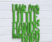 Little Feet, Little Hands, Little Baby (Dave Matthews, dmb, nursery, baby, art)