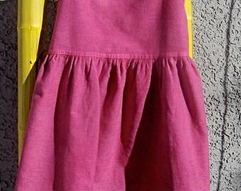 Vintage Baby Dress Wool Burgundy Toddler