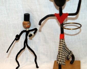 Vintage Modernist Stick Figures - Black Americana