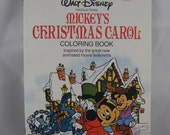 50% off clearance sale! Walt Disney's Mickey's Christmas Carol coloring book, vintage