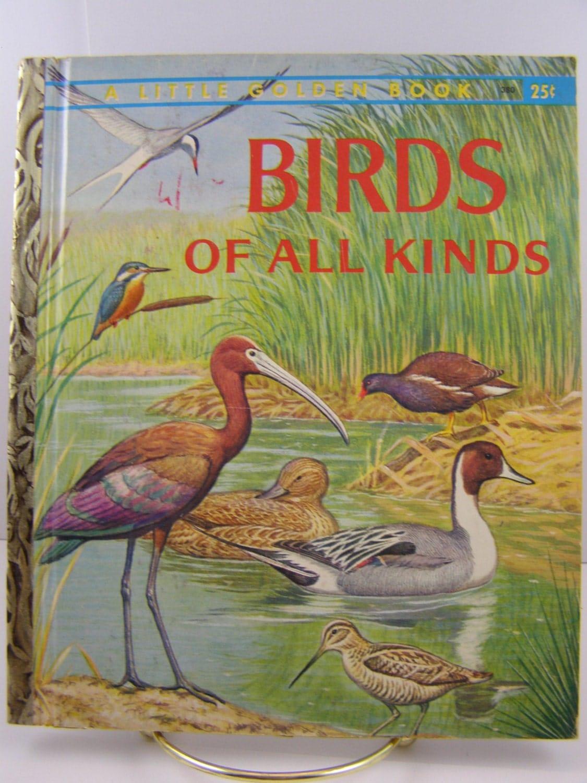 Birds Of All Kinds Vintage Little Golden Book