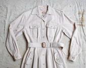 vintage 1980s Banana Republic safari inspired trench dress m
