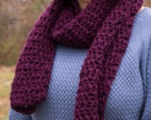 REDUCED PRICE! Purple Chunky Crochet Scarf