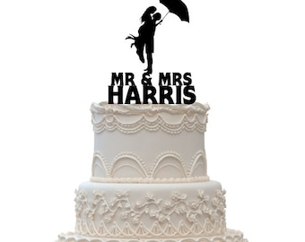 Acrylic Cake Topper,Wedding Cake Topper,Personalized Cake Topper,CT5
