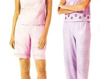 Tank Top Pattern McCall's 2002 Stitch N Save Pants Shorts Uncut Sewing Women's Misses Size 18 - 24 Bust 40 - 46 Inches
