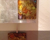 Custom pendulum clock with abstract squares - reserved Stephanie