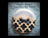 Ceramic Buttons: Retro Blue and White