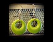 Ceramic Earrings: Tart Acid Green