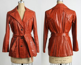 SALE- Rusty Orange Leather Jacket