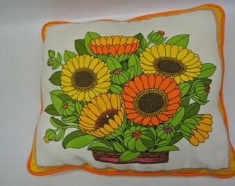 Bright floral throw pillow - gerbera daisies