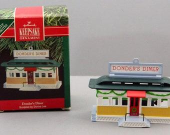 Hallmark Donder's Diner Christmas Ornament 1990 QX482-3 Keepsake in Box