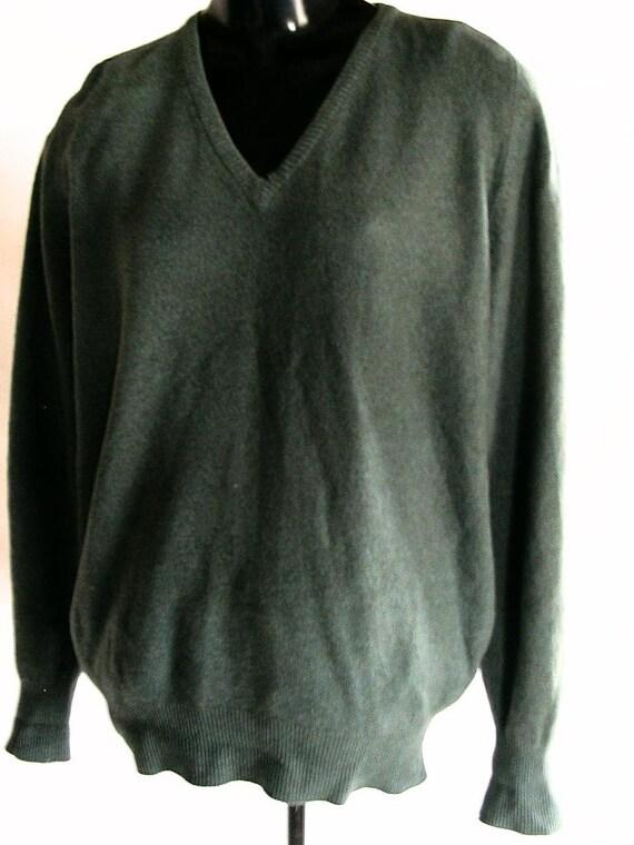 Alan Paine Vintage Shetland Wool Cardigan -