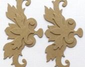 Layered Flourish Scrolls - Chipboard Die Cuts - Border Accents - Bare Embellishments