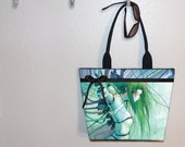 Camilla d'Errico Disassembled Tears Cyborg Anime girl tote bag, book tote, large purse, canvas tote, shoulder bag