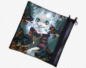 Jasmine Becket-Griffith Flying Fish, fairy bag, zippered art supply case wristlet, travel bag,