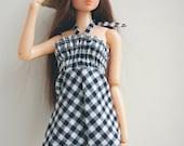 check dress for momoko blythe doll
