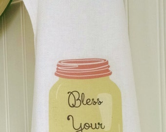 Bless Your Heart Tea Towel & Card Set