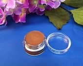 All Natural and Organic Mineral Makeup Cream Eye Shadow Pot Acne Safe Makeup in TREASURE Amber Brown with shimmer
