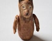 SALE Original Fine Art Vintage Style Bear Woodland Clay Sculpture Art Doll Bust Figure Home Decor Art Brown Bear Figurine