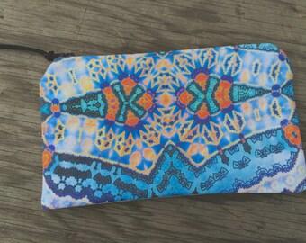 Colorful Fractal Print Zipper Pouch