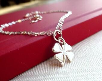 Four leaf clover bracelet, Lucky shamrock bracelet, sterling silver, bridesmaid gifts, adjustable bracelet, lucky charm bracelet, otis b