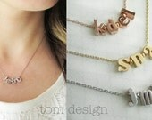 Build Your Own Initial Necklace - Two Three Four Five Six Seven Eight Charms Custom Initial Necklace Personalized Bridesmaid Gift