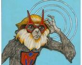 Mega Monkey- Small Print 4.5x4.5