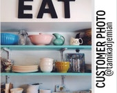 """EAT Sign Letters - 1 FT TaLL - 12"""" inches TaLL - Kitchen, Cafe, Restaurant, Distressed, Salvaged, Rustic, Shabby, Cottage"""
