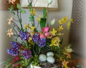 Springtime Floral arrangement in basket