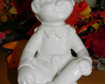 Christmas Elf - Paint your own pottery with this unpainted Bisque