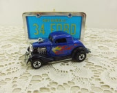 Hot Wheels 1934 Ford Coupe Hot Rod, Mattel Hot Wheels Park N Plates 1979 Collector, Blue Ford Die Cast Car