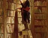 The Book Worm (Der Bücherwurm) by Carl Spitzweg ~ circa 1850 ~ Giclee Print - Biedermeier Art - Librarian art