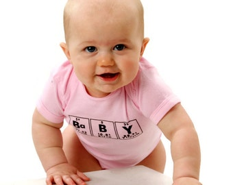 Baby Chemistry Bodysuit- Science Periodic Table One Piece Clothes