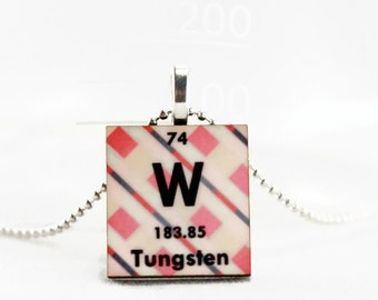Science Necklace Jewelry - Chemistry Pendant, Periodic Table of Elements Charm, Custom Personalized