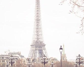 Eiffel Tower Print, Isn't She Lovely, Walking the Seine, Pont Alexandre III, Paris Photography, Eiffel Tower Decor