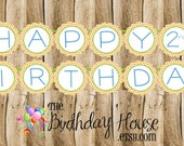 Dino Friends Party - Custom Dinosaur Birthday Party Banner by The Birthday House