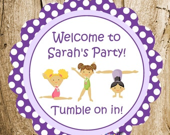 Gymnastics Girls Party - Custom Gymnast Party Sign by The Birthday House