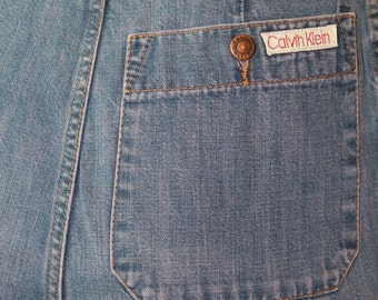 Super rad vintage 70s Calvin Klein high waisted jeans sz xs
