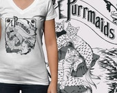Mermaid Cats T-Shirt - Mens, Womens & Kids Sizes Small-2XL Available