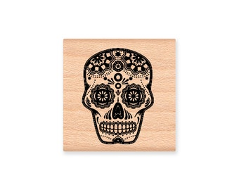 SUGAR SKULL-Wood Mounted Rubber Stamp (31-23)